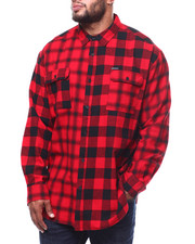 Sean John - L/S Color Blocked Check Shirt (B&T)-2284013