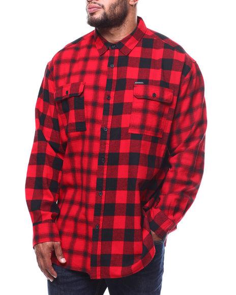 Sean John - L/S Color Blocked Check Shirt (B&T)