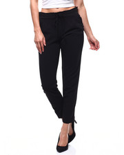 Fashion Lab - Pull On Ruffle Waistband Pleated Tapered Pant-2282885