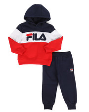 Fila - Color Block Hoodie & Jogger Pants Set (2T-4T)-2283820
