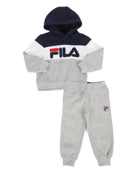 Fila - Color Block Hoodie & Jogger Pants Set (2T-4T)