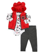 Disney/Sesame Street - 3 Piece Microfleece Vest Set (Infant)-2283852