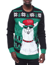 Sweatshirts & Sweaters - Fa LA LA LHAMA Ugly Xmas Sweater-2284284
