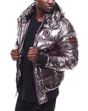Heavy Coats - Metallic Puffer Jacket BY ROBERT PHILLIPE-2284362