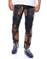 Jeans & Pants - INDIGO BLEACHED AND PAINT MOTO JEAN-2284749