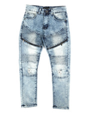 Jeans - Moto Denim Jeans w/ Zippers (8-20)-2284232