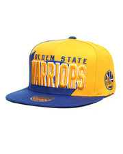 Mitchell & Ness - Golden State Warriors Shark Tooth Snapback Hat-2285080