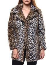 Womens-Winter - Faux Fur Overcoat-2285986