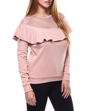 Tops - Ruffle Mesh Sweatshirt-2286131