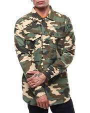 Athleisure for Men - MILITARY LS WOVEN SHIRT-2285883