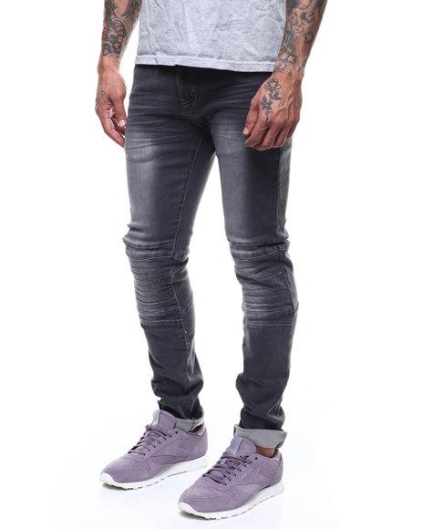 CALIBER - Pleated Stitch Moto Jean
