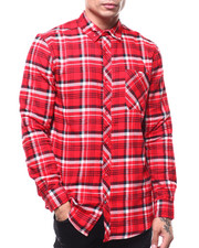 Button-downs - RED LUMBERJACK PLAID FLANNEL-2285729