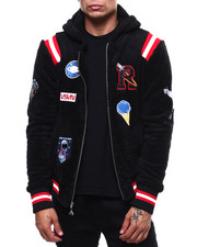 Outerwear - One For All Nasa Faux Sherpa Zip Hooded Jacket-2285929
