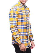 Button-downs - YELLOW LUMBERJACK PLAID FLANNEL-2285719