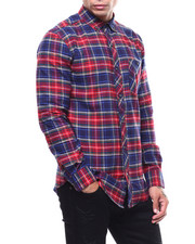 Mens-Holiday - NAVY LUMBERJACK PLAID FLANNEL-2285724