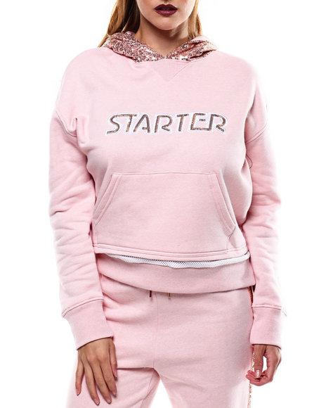 Buy Logo Sequin Trim Hooded Sweatshirt Women s Tops from Starter ... de87233bc