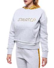 Starter - Logo Sequin Trim Hooded Sweatshirt-2285991