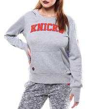 NBA MLB NFL Gear - NY Knicks Thumbholes Hoodie-2286117