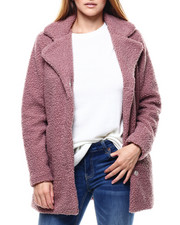 Womens-Winter - Looped Sherpa Coat-2285117