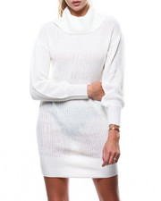 Almost Famous - Cowl Neck Shaker Stich Mini Dress-2286076
