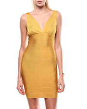 Bodycon - S/L V-Neck Bandage Dress-2284948