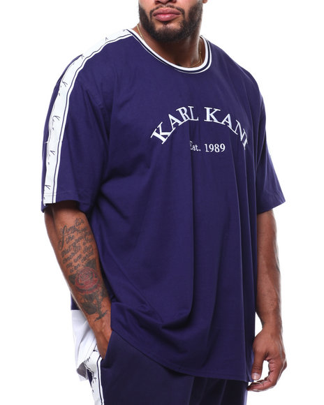 Karl Kani - Jersey Taped Droptail Tee (B&T)