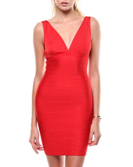 Fashion Lab - S/L V-Neck Bandage Dress