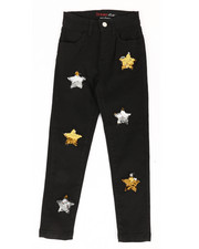 Girls - Twill Pants w/ Reversible Sequin Patches (4-6X)-2277712
