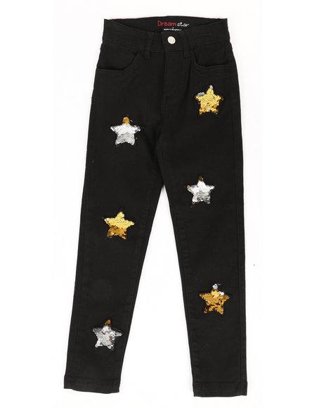 La Galleria - Twill Pants w/ Reversible Sequin Patches (4-6X)