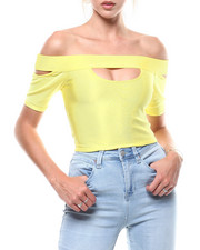 Fashion Lab - S/S Off Shoulder Keyhole Bandage Top-2284964