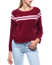 Almost Famous - Chenille Yarn Scoop Neck Sweater-2285037