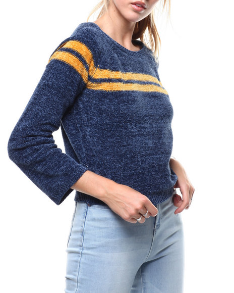 Almost Famous - Chenille Yarn Scoop Neck Sweater