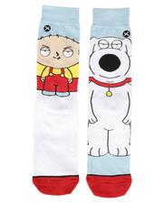 DRJ SOCK SHOP - Stewie & Brian Crew Socks-2286293
