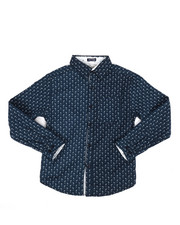 Tops - Flamingo Print Woven Shirt (8-20)-2284908