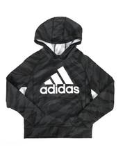Adidas - Moto Camo Pullover Hoodie (8-20)-2285270