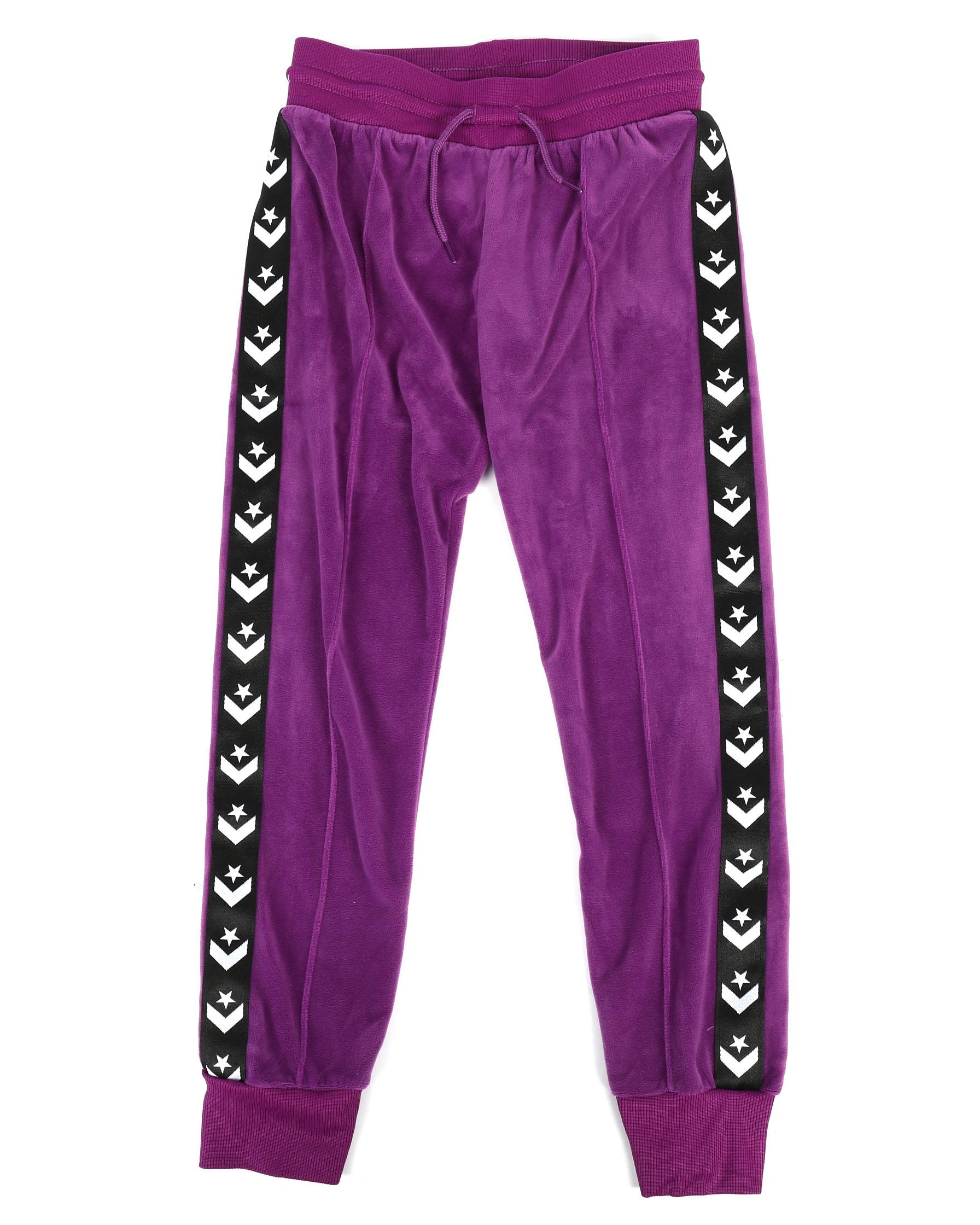 Buy Star Chevron Velour Track Pants (7 16) Girls Activewear