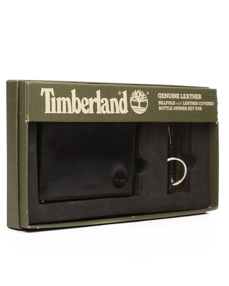 Timberland - Leather Wallet/Bottle Opener Set