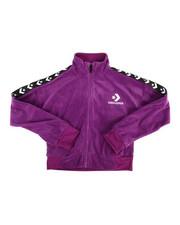 Girls - Star Chevron Velour Track Jacket (7-16)-2287034