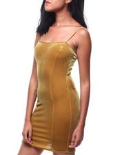 Dresses - S/L Velvet Midi Dress-2286626