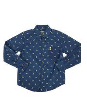 Tops - Banana Print Woven Shirt (8-20)-2286826