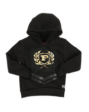 Hoodies - Embossed Metallic Fleece Hoodie (4-7)-2286917