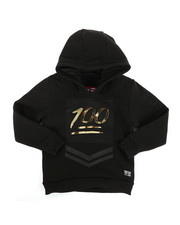 Hoodies - Embossed Metallic Fleece Hoodie (4-7)-2286912