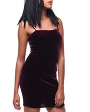Dresses - S/L Velvet Midi Dress-2286622