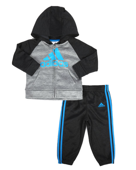 Adidas - 2 Piece Melange Track Set (Infant)
