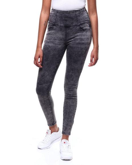 SECRETS - Hi Rise Stacked Waist Zip Side Skinny Jean