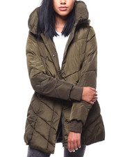 Steve Madden - Chevron Quilted Pillow Collar Puffer-2288063