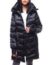 Outerwear - Nylon Hooded Long Puffer-2288093