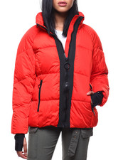 Womens-Winter - Short Nylon Puffer/Hidden Hood-2288043