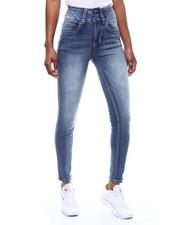 Women - 3 Button Corset Waist Skinny Jean-2286454