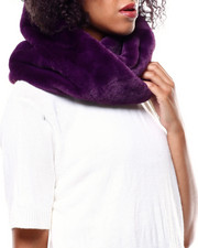 Fashion Lab - Twisted Faux Fur Ring Scarf-2268722